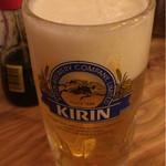 やたいや - 生ビールは280円。泡も良好。