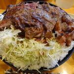 46754698 - ステーキ丼(特盛)(2014/11ver)