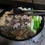 季節料理 つばき - 熊鍋(2016年1月ディナー冬ジビエ)