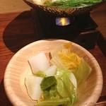 都野菜 賀茂 - 温野菜 大根おいしかった。