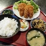 竿灯 - 「海老カツと牡蠣フライ (750円)」