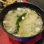 竿灯 - 定食のお味噌汁
