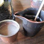 そば処 農 - ここで口休めに蕎麦湯をいただきました。