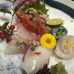 旅館仁三郎 - 料理写真:お刺身盛り合わせ