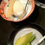 鳥喜 - バニラアイスとデザートのメロン