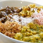 アハサ食堂 - 料理写真:2016.1 今週のスリランカプレート Mサイズ(1,100円)