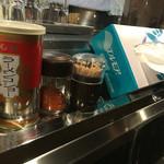 らーめん 縣 - カウンターの調味料の類