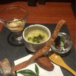 魚匠 銀平 - 再訪。鯛飯コース 前菜。前回と違う!