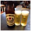 いちばん - ドリンク写真:2015.11   サッポロビール(大瓶) 500円