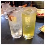 いちばん - 2015.11  梅干サワー&焼酎お茶割り 各350円