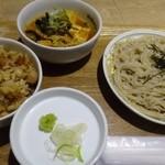 46768183 - ランチセット(780円)・・蕎麦・本日のご飯・本日の小鉢のセット。