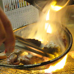 宮崎 小林養鶏 直営店 しちりん焼肉 わさび - 宮崎産の鶏と牛がウリの店です。 かしわ(鶏肉)好きの福岡ケンミンとしては鶏焼肉ウリの店は嬉しい。