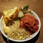 46769946 - オカズ→玉子焼きにキムチにナムルに竹輪の炒め物