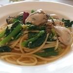 イタリア料理のお店 ラ サラ  - ほうれん草、牡蠣、ガーリック