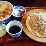 海老民 - 料理写真:御膳物 梅 天丼とそば