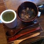ボンナボンナ - ひよこ豆のスープ的と緑のスープ