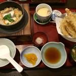 46776652 - 鯛飯天ぷら膳/鶏釜飯(1350円)