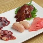 ひら井 - 料理写真:土佐ジローキモ盛り合わせ