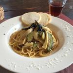 風の音 - 日替わり(?)パスタの野菜たっぷりペペロンチーノ