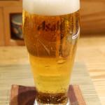 鮒忠 - 小グラスビール