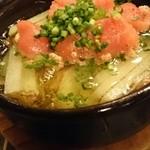 肉バル アンカーグラウンド - 明太子とジャガイモのアヒージョ