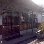 上野製麺所 - 逆光ですいません(´;ω;`)   入口です