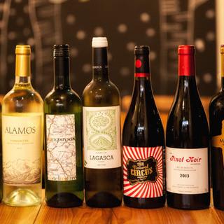 驚異のグラスワインが約20種類!!