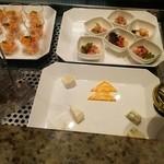 オールデイブッフェ コンパス - 本日のアミューズ、チーズ盛り合わせ