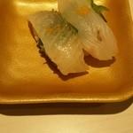 魚べい - ひらめ+からすみ?220円