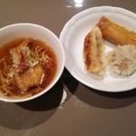 オールデイブッフェ コンパス - パイコー麺、春巻、餃子等