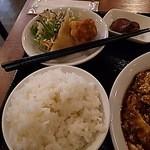 Haruka - 【2016年1月25日】鶏唐揚げと揚げワンタンが付いています。