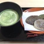 和田の屋 - 抹茶と焼餅セット