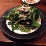 おじゃれこじゃれ - カリカリベーコンとほうれん草のサラダ
