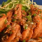 中国家庭料理 聚 - くるまえびの黒コショウ炒め