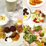 46787696 - 自分のとったもの 野菜2皿、デザート適当