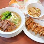 バーミヤン - 香港式叉焼麺と餃子・半チャーハンセット
