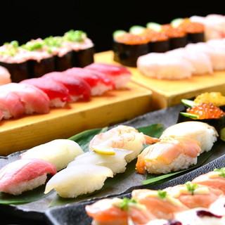 【寿司BAR】カウンター寿司食べ飲み放題