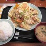 46792615 - 豚カルビスタミナ定食