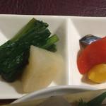 ビストロビカーサ - 小松菜煮&ピクルス