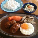 徳田や - 料理写真:ハンバーグランチ1058円