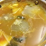 勝太鼓 - 途中でスープ追加。コラーゲンたっぷりですw