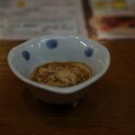 都一 - サービスの麻婆豆腐