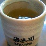 菊寿司 - かなりデッカイお湯呑みです。