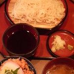 秋田料理 まさき - 稲庭うどん ミニ鮭ご飯セット