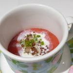 モナリザ - イチゴのスープ仕立て