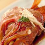 みのり鮨 - 金目鯛の兜煮
