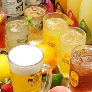 ◆ドリンク50種類以上◆酒好きが愛する珠玉の【焼酎】は必見