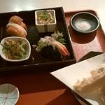 小松庵 - 睦月のセット。天ぷらが美味い!