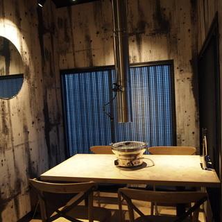 2階の奥のテーブル席【4~5名様】OPEN席ですが、楽しく宴をする事が出来ます