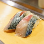 栄寿司 - 料理写真:2016.1 さば(1貫110円)